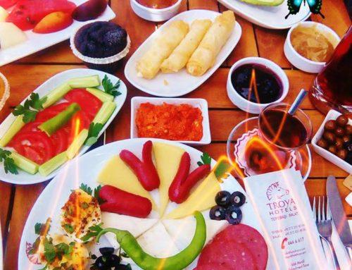 Traditional Turkish Breakfast in Troya Hotel